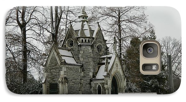 Galaxy Case featuring the photograph Mausoleum In Winter by Kathy Barney