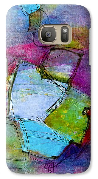 Galaxy Case featuring the painting Maverick by Katie Black