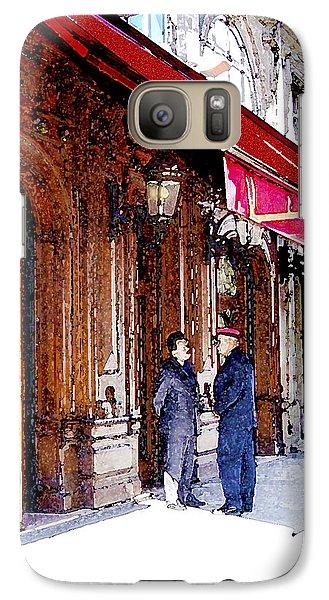 Galaxy Case featuring the digital art Maxim's by Victoria Harrington