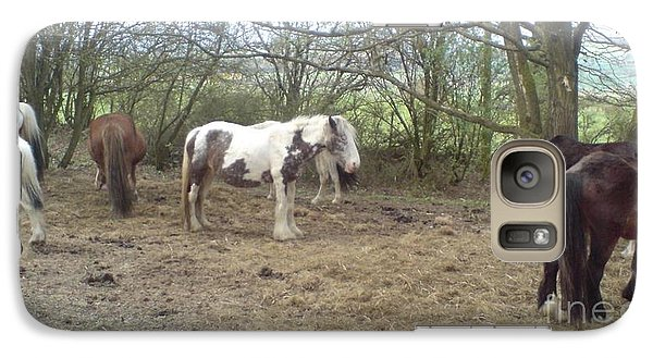 Galaxy Case featuring the photograph May Hill Ponies 1 by John Williams
