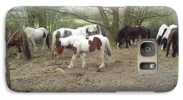 Galaxy Case featuring the photograph May Hill Ponies 2 by John Williams