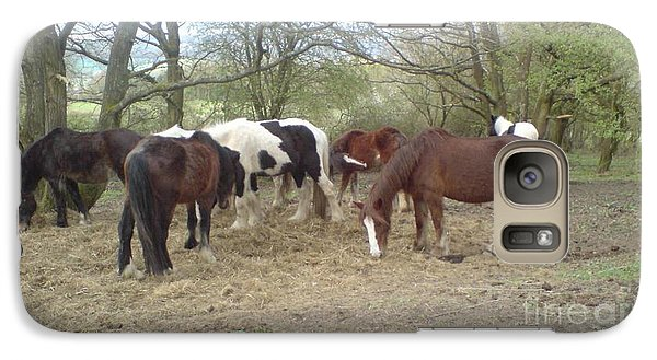 Galaxy Case featuring the photograph May Hill Ponies 3 by John Williams