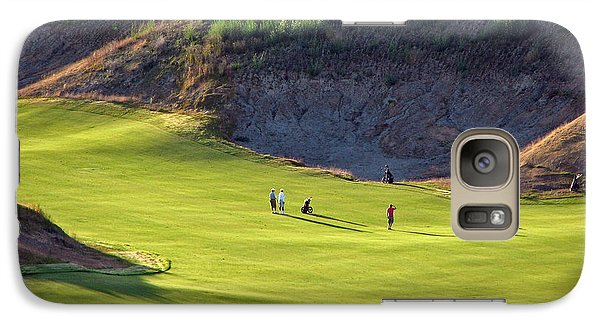 Galaxy Case featuring the photograph May I Play Through? - Chambers Bay Golf Course by Chris Anderson
