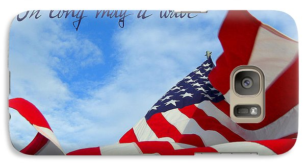 Galaxy Case featuring the photograph May It Wave by Heidi Manly
