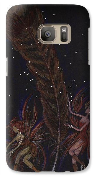 Galaxy Case featuring the drawing May You Find by Dawn Fairies