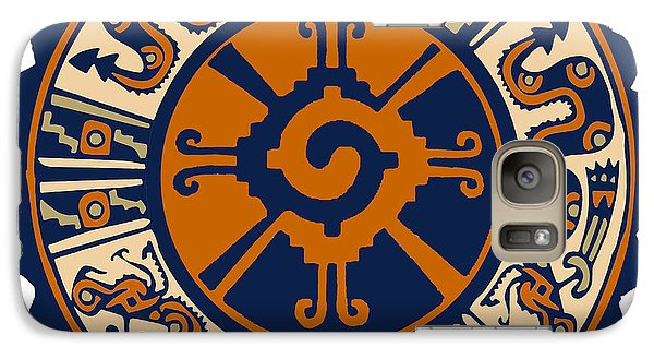 Galaxy Case featuring the digital art Mayan Hunab Ku by Vagabond Folk Art - Virginia Vivier