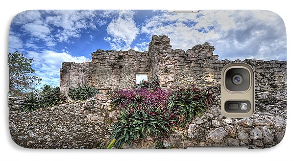 Galaxy Case featuring the photograph Mayan Ruin At Tulum by Jaki Miller