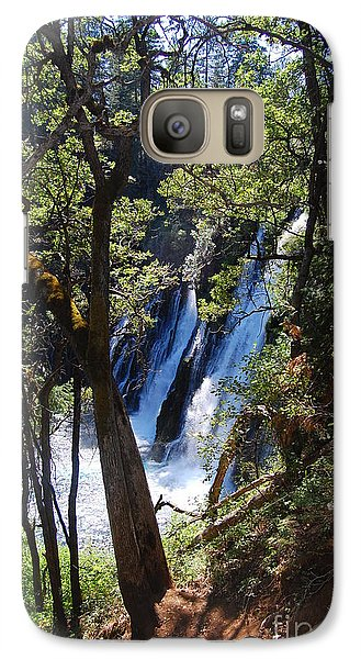 Galaxy Case featuring the photograph Mcarthur-burney Falls Side View by Debra Thompson