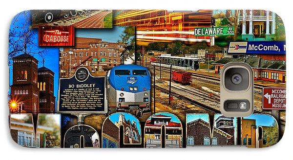 Galaxy Case featuring the photograph Mccomb Mississippi Postcard 2 by Jim Albritton