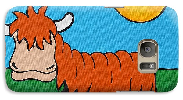 Galaxy Case featuring the painting Mcmooo by Sheep McTavish