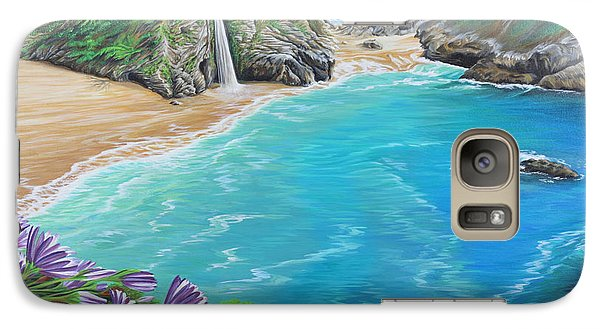 Galaxy Case featuring the painting Mcway Falls by Jane Girardot