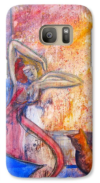 Galaxy Case featuring the painting Me And Simba by Teresa Beyer