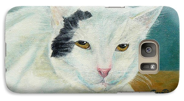 Galaxy Case featuring the painting Mr. Serious by Terry Taylor