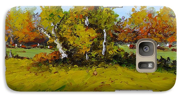 Galaxy Case featuring the painting Meadow In Autumn by Fred Wilson