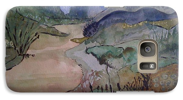 Galaxy Case featuring the painting Meandering by Judi Goodwin