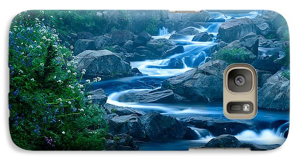 Galaxy Case featuring the photograph Meandering Stream by Chris McKenna