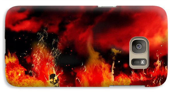 Galaxy Case featuring the painting Meanwhile In Tartarus by Persephone Artworks