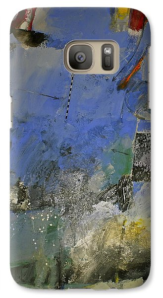 Galaxy Case featuring the painting Meatier Illogical Cold Front by Cliff Spohn