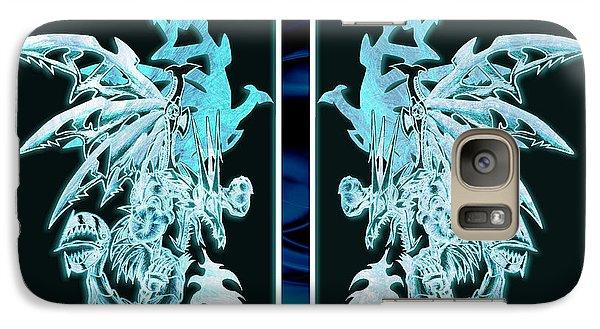 Mech Dragons Diamond Ice Crystals Galaxy S7 Case