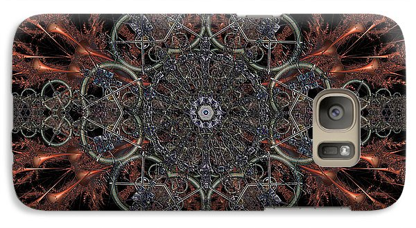 Galaxy Case featuring the digital art Mechanisms Of Wonder by Rhonda Strickland