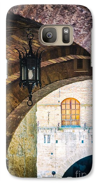 Galaxy Case featuring the photograph Medieval Arches With Lamp by Silvia Ganora