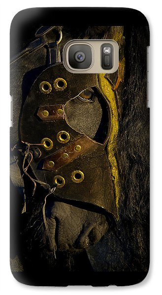 Galaxy Case featuring the photograph Medieval Stallion D6649  by Wes and Dotty Weber