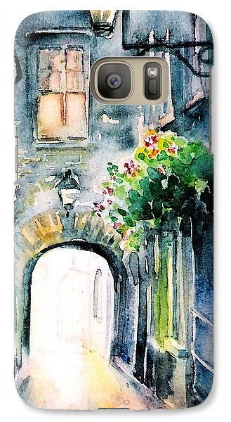 Galaxy Case featuring the painting The Butter Slip  Medieval Street Kilkenny I by Trudi Doyle
