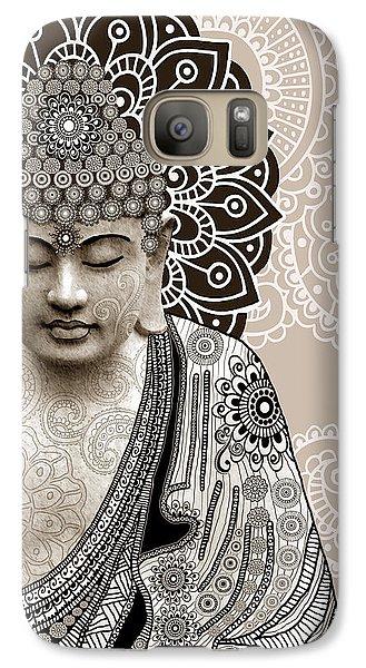 Religion Galaxy S7 Case - Meditation Mehndi - Paisley Buddha Artwork - Copyrighted by Christopher Beikmann