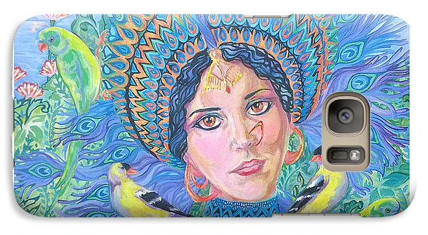 Galaxy Case featuring the painting Meditation by Suzanne Silvir