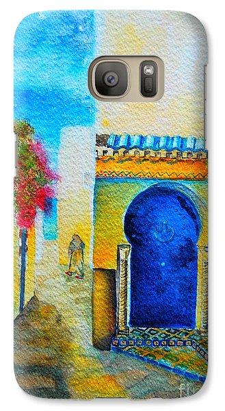 Galaxy Case featuring the painting Mediterranean Medina by Ana Maria Edulescu