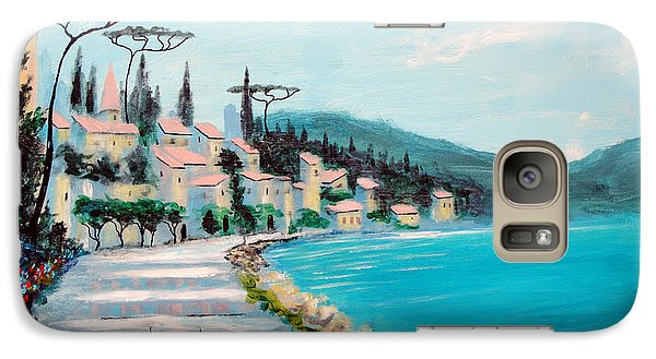 Galaxy Case featuring the painting Mediterranean Shores by Larry Cirigliano