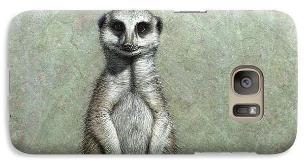 Meerkat Galaxy S7 Case by James W Johnson