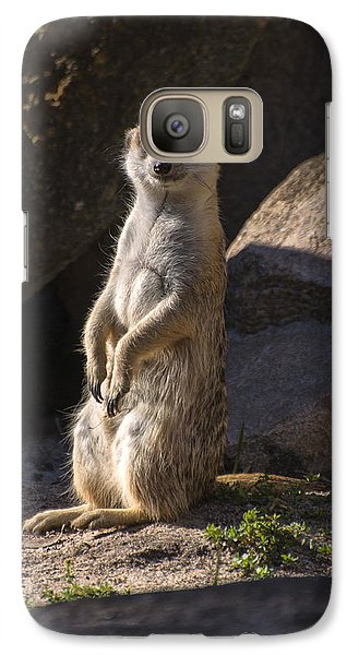 Meerkat Looking Forward Galaxy S7 Case by Chris Flees