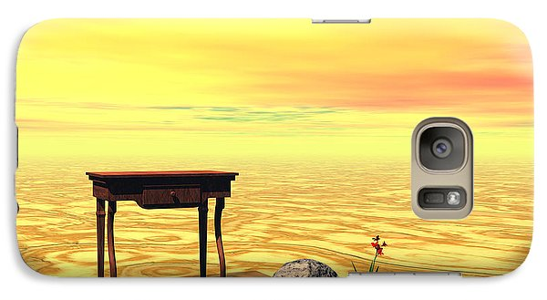 Galaxy Case featuring the digital art Meeting On Plain - Surrealism by Sipo Liimatainen