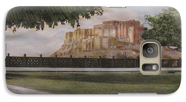 Galaxy Case featuring the painting Mehrangarh Fort by Vikram Singh