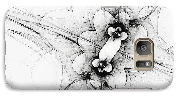 Galaxy Case featuring the digital art Meiosis by Arlene Sundby