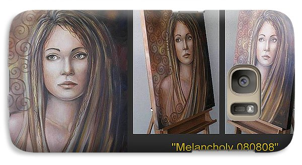 Galaxy Case featuring the painting Melancholy 080808 Comp by Selena Boron