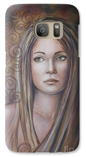 Galaxy Case featuring the painting Melancholy 080808 by Selena Boron