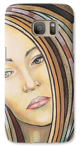 Galaxy Case featuring the painting Melancholy 300308 by Sylvia Kula