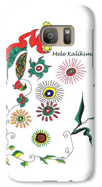 Galaxy Case featuring the drawing Mele Kalikimaka by Mukta Gupta