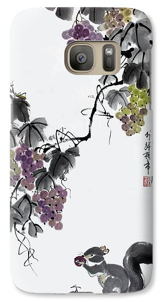 Galaxy Case featuring the painting Melody Of Life II by Yufeng Wang