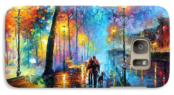 Melody Of The Night - Palette Knife Landscape Oil Painting On Canvas By Leonid Afremov Galaxy S7 Case