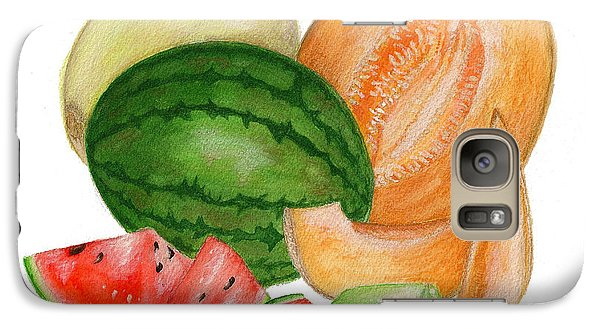Galaxy Case featuring the painting Melons  by Nan Wright