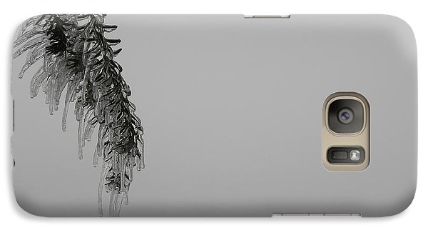 Galaxy Case featuring the photograph Melting Ice by Edwin Alverio