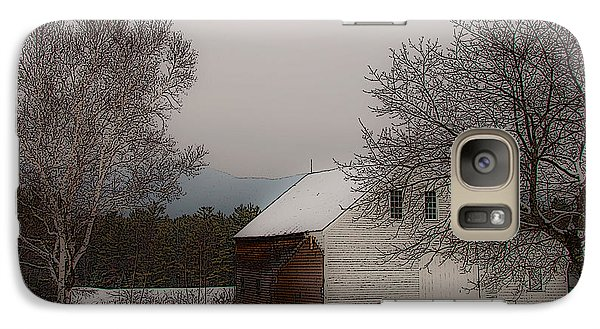 Galaxy Case featuring the photograph Melvin Village Barn In Winter by Brenda Jacobs