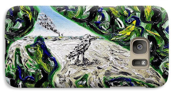 Galaxy Case featuring the painting Memetic Process by Ryan Demaree