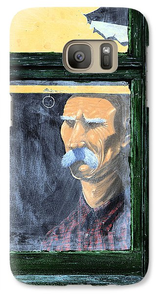 Galaxy Case featuring the painting Memories Of Grandfather by Ron Haist