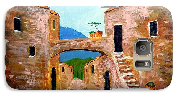 Galaxy Case featuring the painting memories of Montalcino by Larry Cirigliano