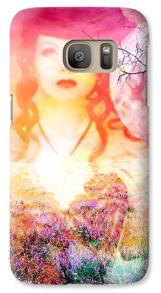 Galaxy Case featuring the digital art Memory Of Her by Diana Riukas