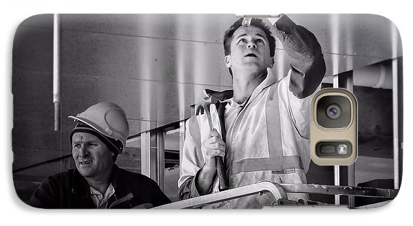 Galaxy Case featuring the photograph Men At Work by Wallaroo Images